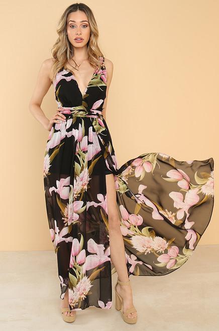 Floral Affair Dress - Black