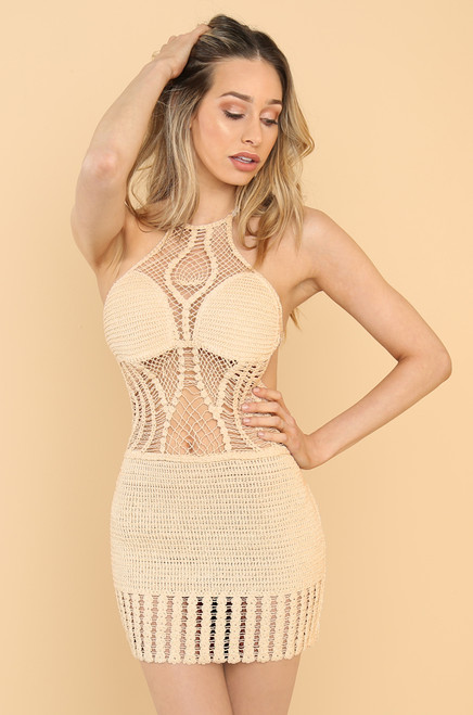 Temptation Island Dress - Nude