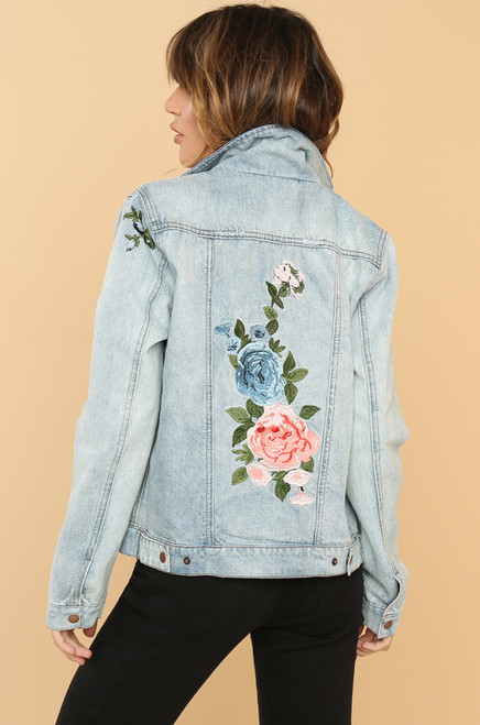 Coming Up Roses Jacket - Denim