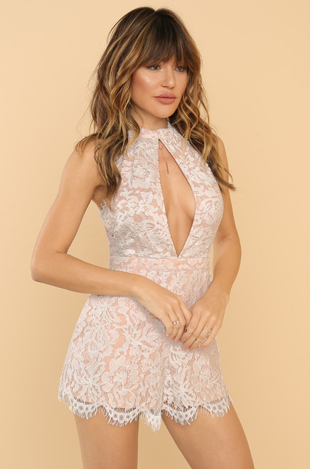 Lace Is More Romper - White