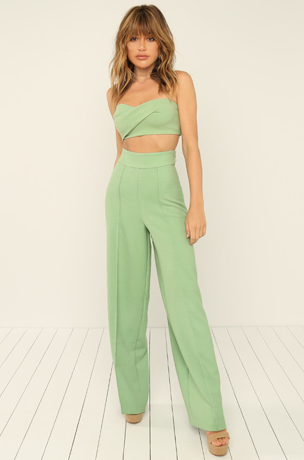 Back Together Bandeau Top - Mint