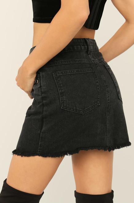 Show Some Leg Skirt - Black
