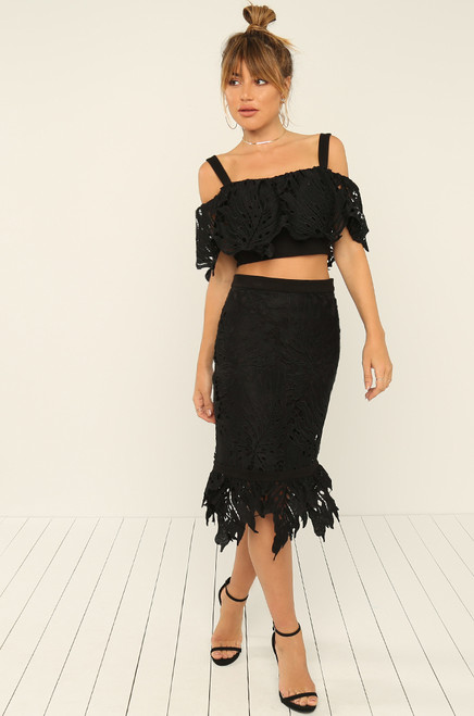 Say You Will Co-ord Set - Black