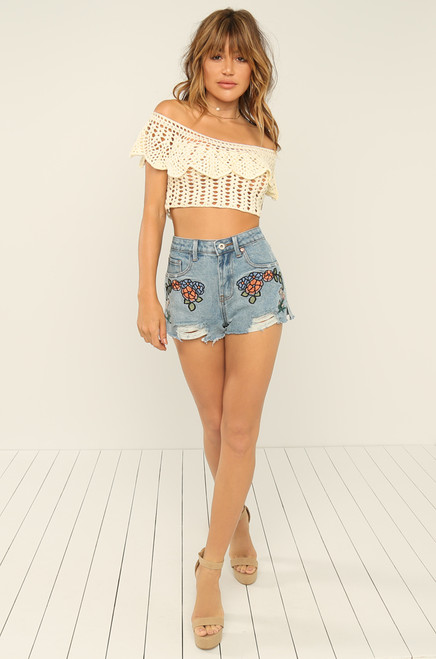 Grow On You Shorts - Denim