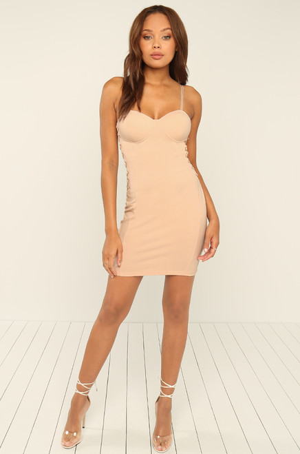 Out Of Your League Dress - Nude
