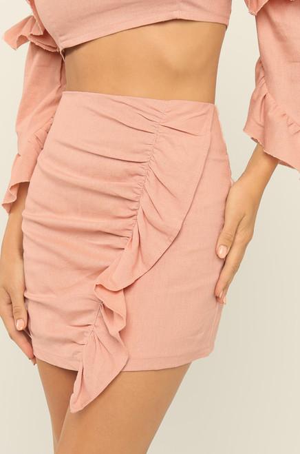 Ready To Ruffle Skirt - Blush