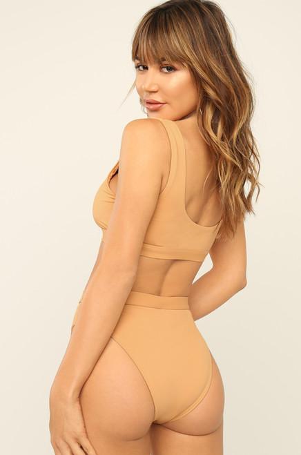 New Wave Bikini Bottom - Nude