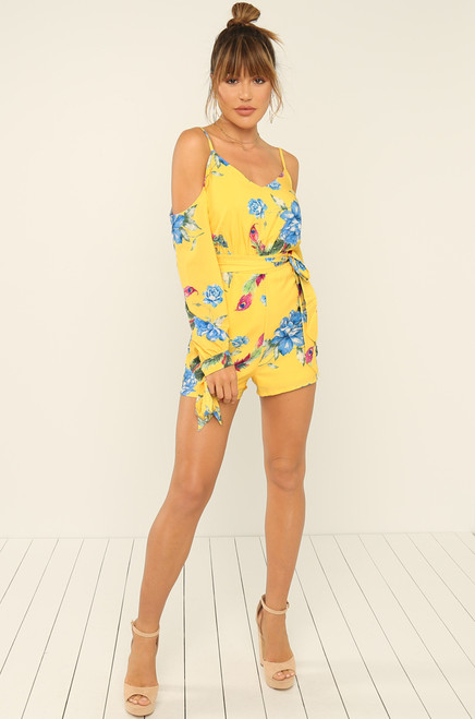 Knot Yours Romper - Canary