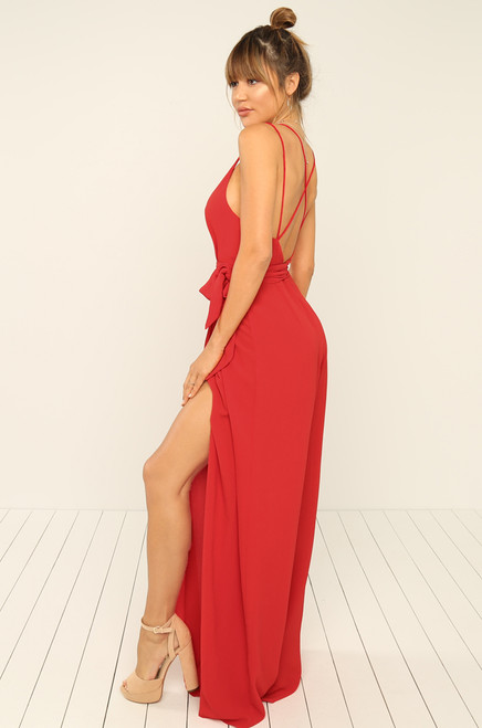 Rise Up Jumpsuit - Red