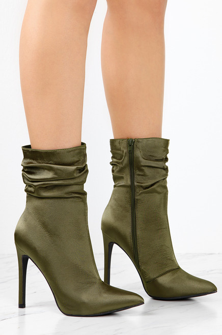 In The Lead - Olive Satin brand new unisex cheap price cheap sale outlet store cheap sale visa payment mVRLdOEPo