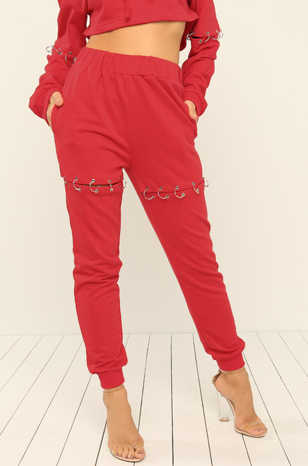 Ring It On Joggers - Red