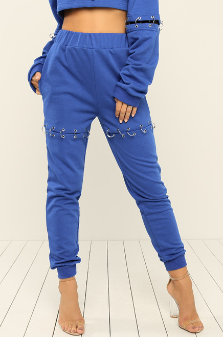 Ring It On Joggers - Blue