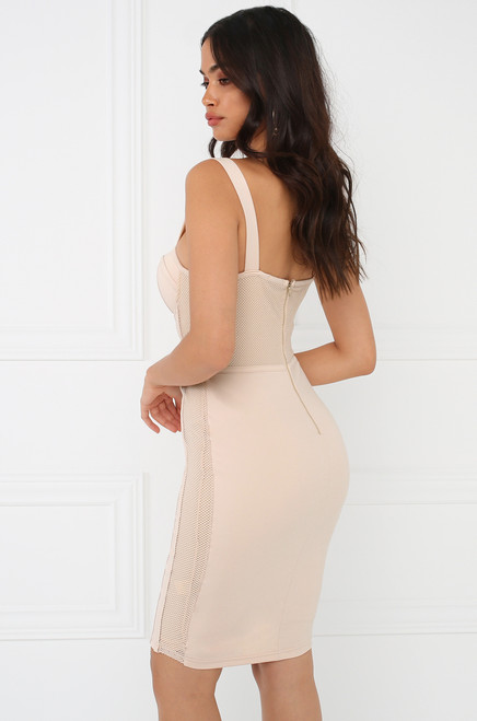 Catching Feels Dress - Nude