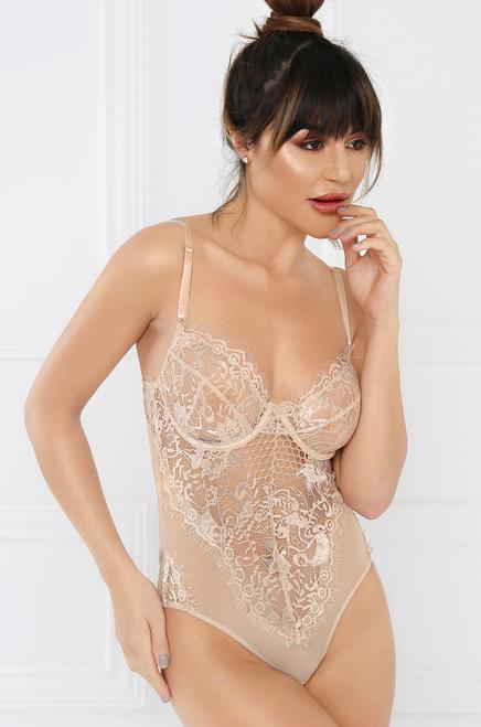 Risqué Bodysuit - Nude