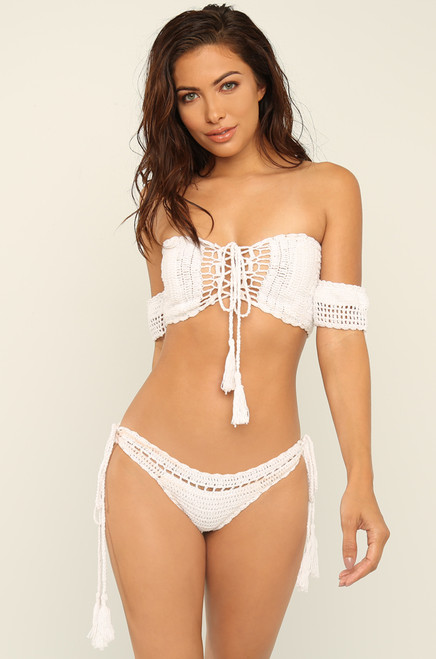 Hot Stitch-uation Bikini Set - White