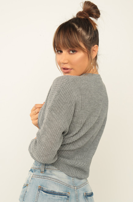 Going Bare Sweater - Grey