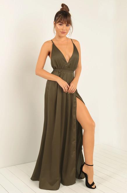 Elevated Vixen Dress - Olive