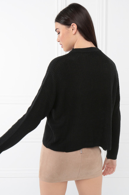 Going Bare Sweater - Black