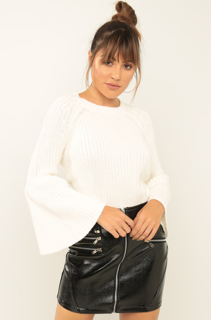 Without A Stitch Sweater - White