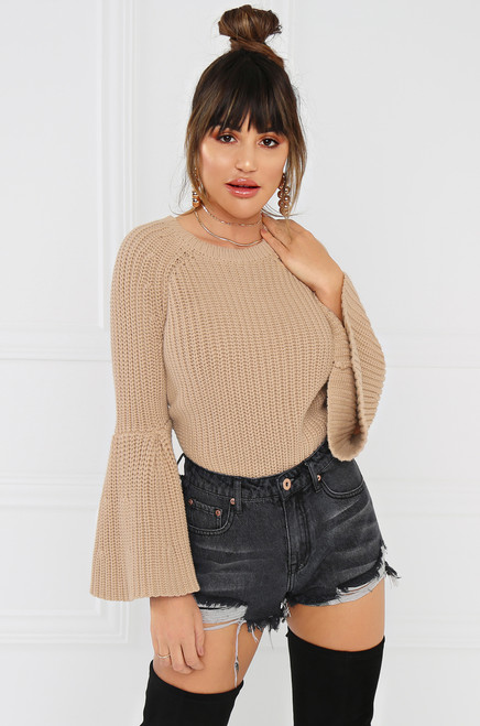 Without A Stitch Sweater - Nude