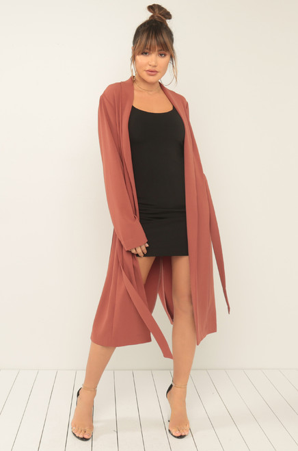 Jet Setter Trench - Dark Blush