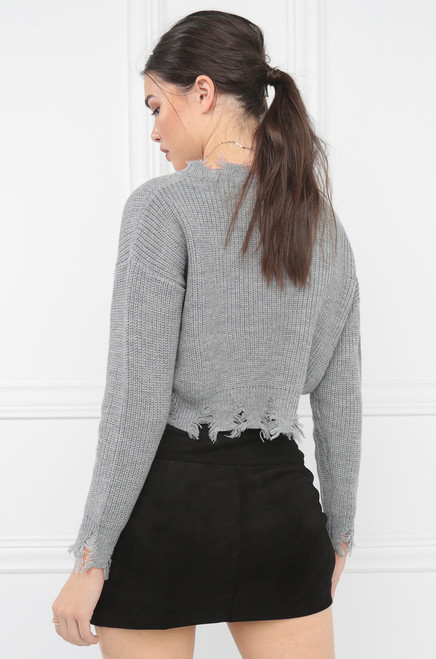 In Stitches Top - Grey