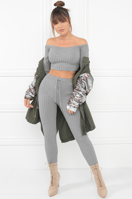 Playa Baby Co-Ord Set - Grey