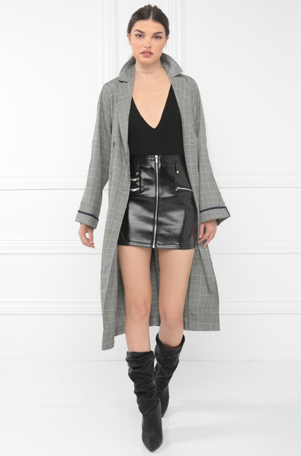 Above All Trenches Trench Coat - Grey