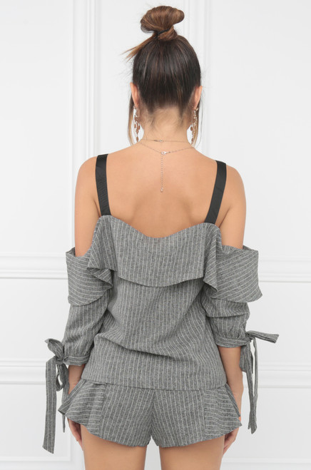 The Perfect Match Top - Grey