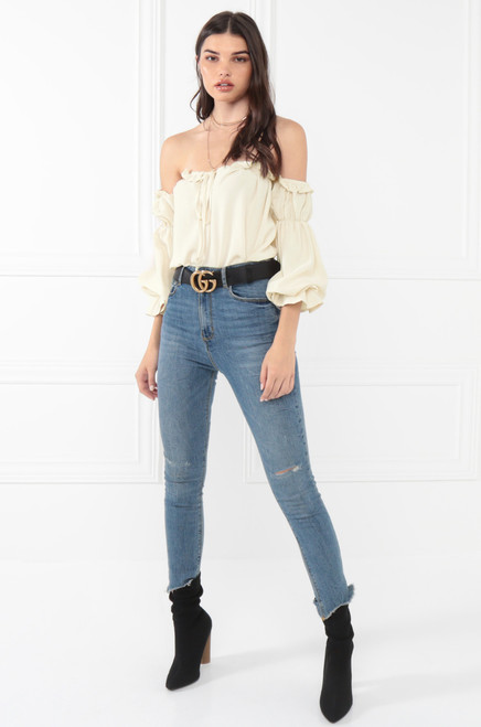 Ruffle Play Top - Ivory