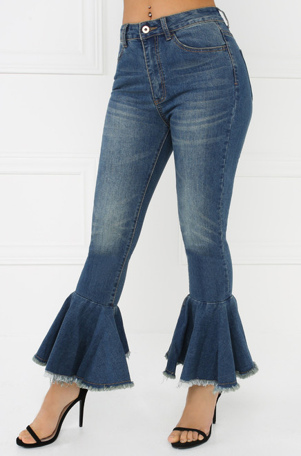 Iconic Flare Jeans - Denim