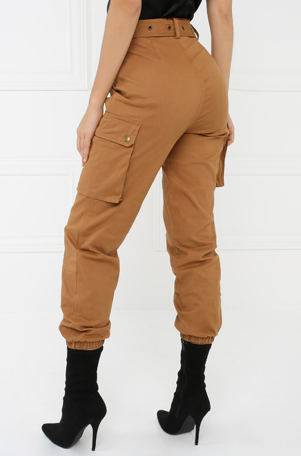 Style & Go Cargo Jogger Pant - Rust