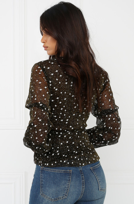 Gold Dust Top - Black