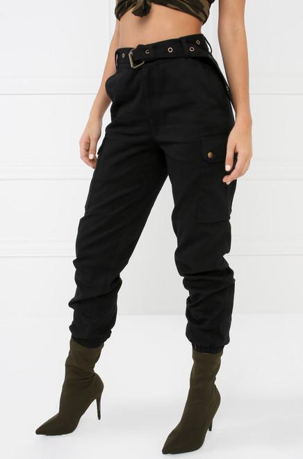 Style & Go Cargo Jogger Pant - Black