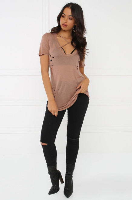 Up Front Tee - Mauve