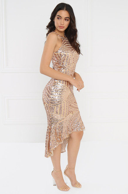 Saint Luxe Dress - Champagne