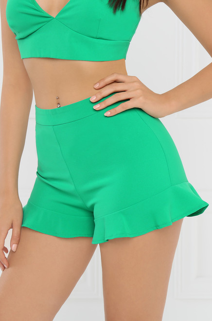 Crushin' On You Shorts - Green