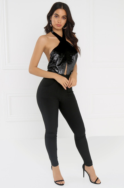 Boy Bye Bodysuit - Black