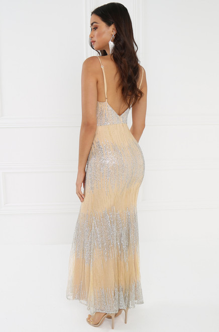 Raise a Glass Dress - Nude