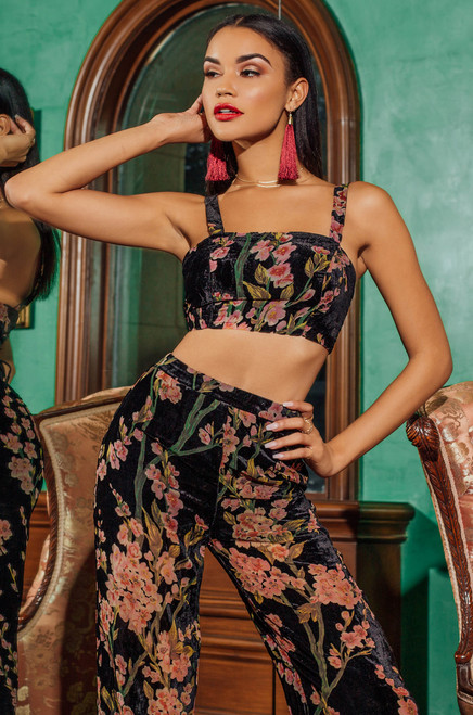 Ivy League Set - Black Floral