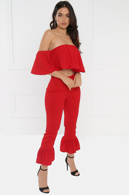 Ring The Alarm Co-Ord - Red