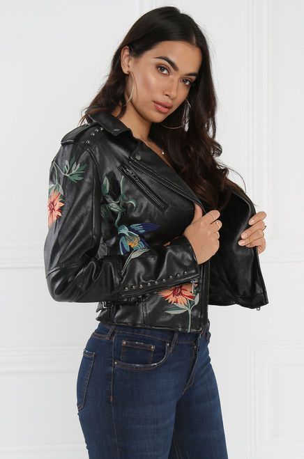 Flower Bomb Jacket - Black