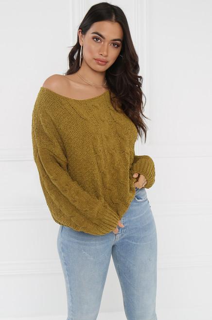 Warm Hearted Sweater - Dijon
