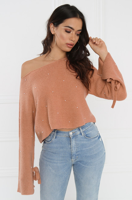 Close To Me Sweater - Blush