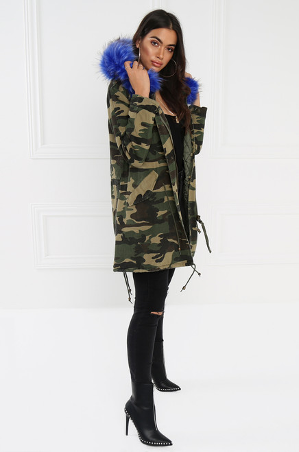 All Eyes On Me Coat - Camo