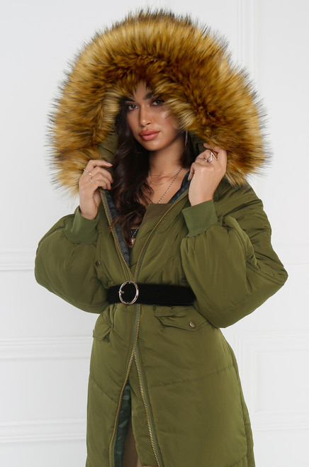 Zero Below Puff Parka - Olive
