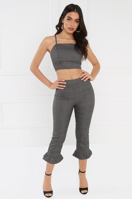 Proper Crop Pant - Grey