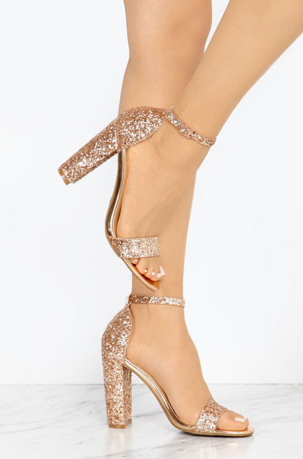 Simply Charming - Rose Gold Glitter