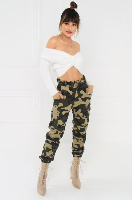 Hide & Chic Cargo Pant - Camouflage