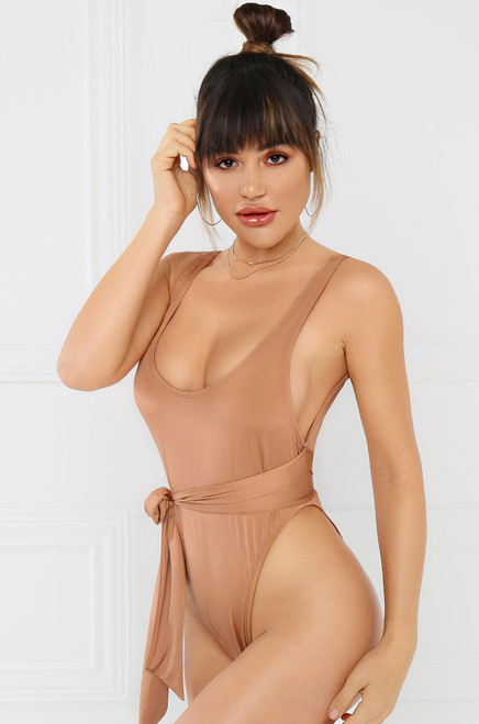 Going Coastal Swimsuit - Nude